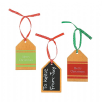 Wooden Chalkboard Gift Tag Ornaments (12)